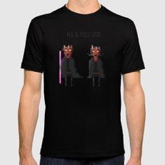 Mr & Mrs Sith MEDIUM Black Mens Fitted Tee