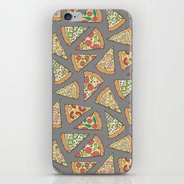 Pizza on Dark Grey iPhone Skin
