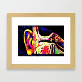 Listening in Color Framed Art Print