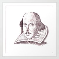 shakespeare Art Prints featuring Shakespeare by Eric's Trip