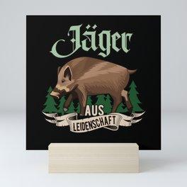 Jäger aus Leidenschaft Jagd Geschenk Mini Art Print