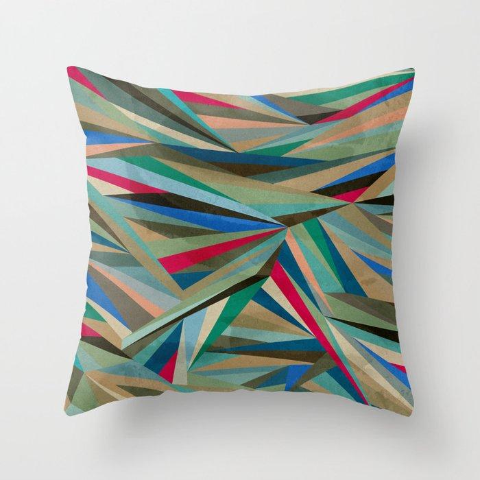 Travel Fragments Throw Pillow