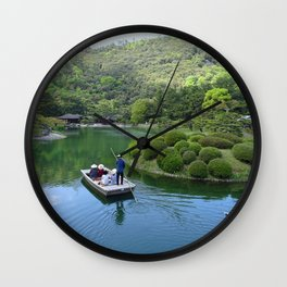 lake in Ritsurin Garden takamatsu japan Wall Clock