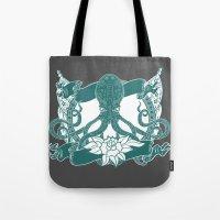 kraken Tote Bags featuring KRAKEN by Norm Morales Originals