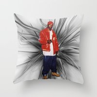 2pac Throw Pillows featuring Big L  by Gold Blood