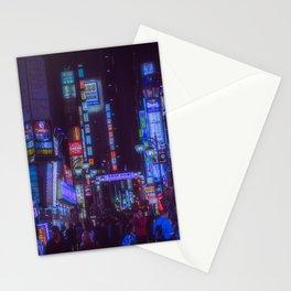 Tokyo night: a bright alley / cyberpunk/blade runner blue neon light Stationery Cards