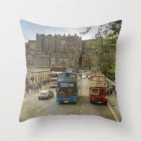 edinburgh Throw Pillows featuring Edinburgh by Peaky40