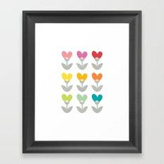 Heart petals Framed Art Print