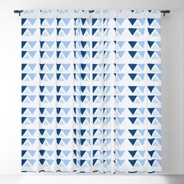 Blue triangles pattern Blackout Curtain