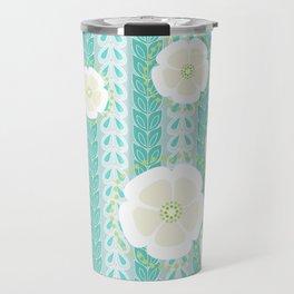 Kanzashi Willow - blues Travel Mug