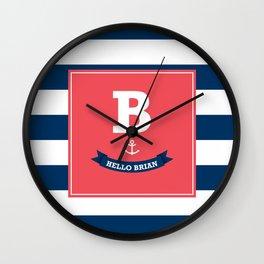 hello B! Wall Clock
