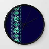 nordic Wall Clocks featuring NORDIC by Oksana Smith