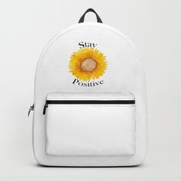 Stay Positive Sunflower Backpack