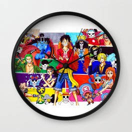 Straw Hat Crew Wall Clock