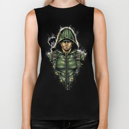 Green Hooded Hero Biker Tank