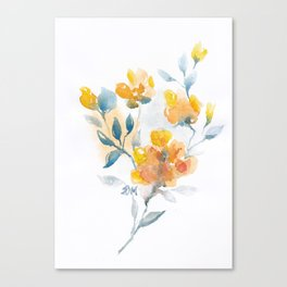 Watercolor Floral #3 Canvas Print