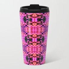 Pink Tribomb Metal Travel Mug