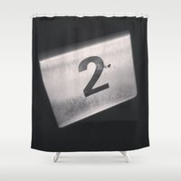 number Shower Curtains featuring Number 2 Table Number by Redhedge Photos