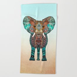 BOHO SUMMER ELEPHANT Beach Towel