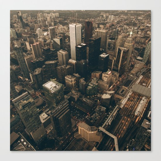 NYC from above - Ariel Image Canvas Print