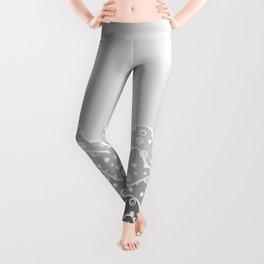 Grayscale Waves Leggings