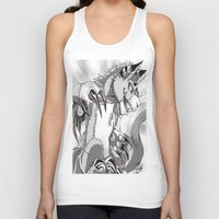 digimon Tank Tops featuring + Digimon - Dorumon + by Xyeziaeos