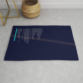 pale blue dot Rug