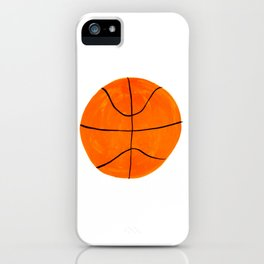 Orange Basketball iPhone Case