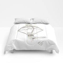 Lamppost Sketch Comforters