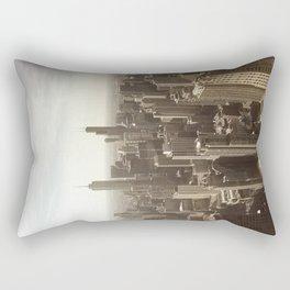 Chicago Buildings Sears Tower Sky Sun Color Photo Rectangular Pillow