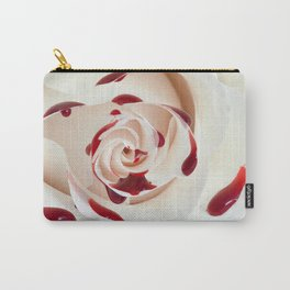 Bleeding Rose Macro Carry-All Pouch