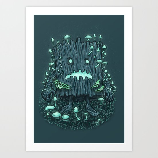 The Fungus Log Art Print