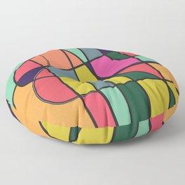 The flow#2 color block minimalist modern art Floor Pillow