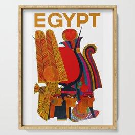 Vintage Egypt Headdress Travel Serving Tray