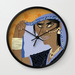 Princess Aouda (Around the World in 80 Days) Wall Clock