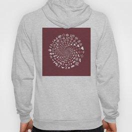 Merlot Love Symbol Mandala Hoody