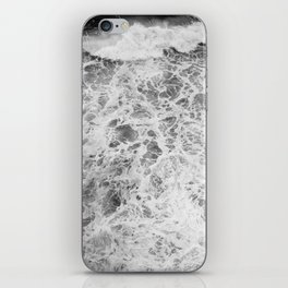 The Waves (Black and White) iPhone Skin