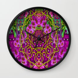 Star of freedom ornate rainfall in the tropical rainforest Wall Clock