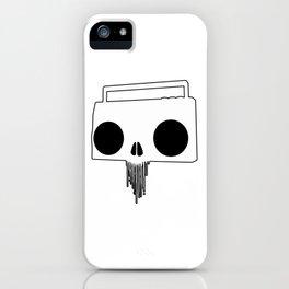 Boombox Skull (Black & White) iPhone Case