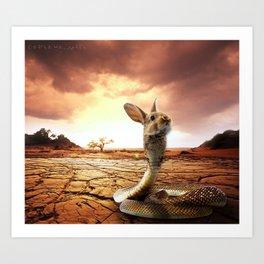 Snabbit Art Print
