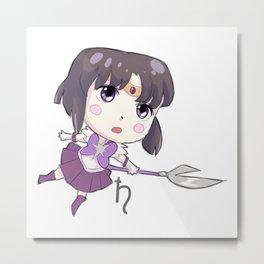 Sailor Saturn Metal Print