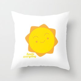 smile everyday Throw Pillow