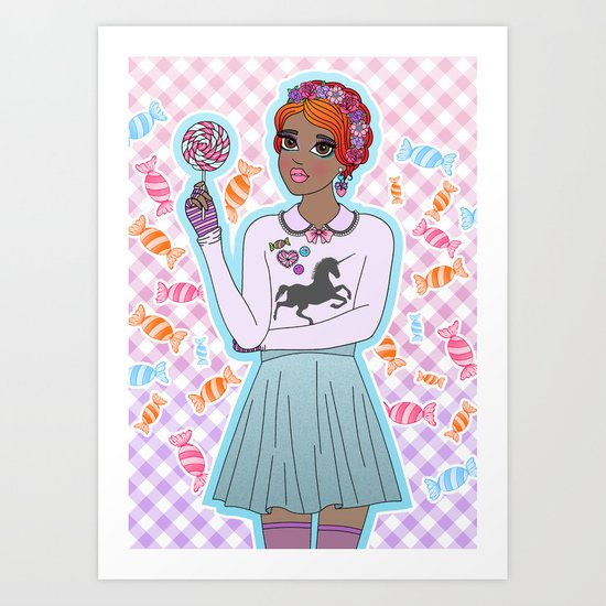 Sweeter Than Candy Art Print