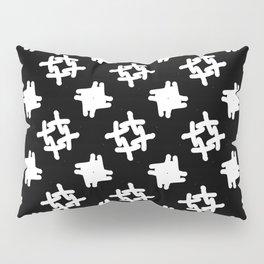 black and white check Pillow Sham