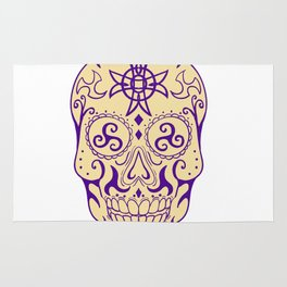 Mexican Skull  With Triskele and Celtic Cross Tattoo Rug