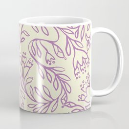 Impression indienne purple and cream. Coffee Mug