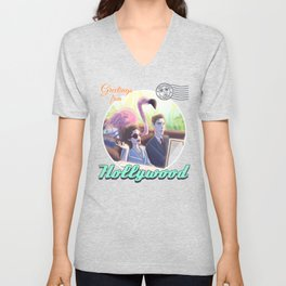 Agent Carter goes to Hollywood Unisex V-Neck