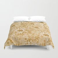 floral pattern Duvet Covers featuring Floral pattern by nicky2342