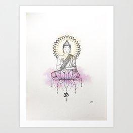 Lotus Buddha Kunstdrucke