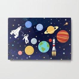 In space Metal Print